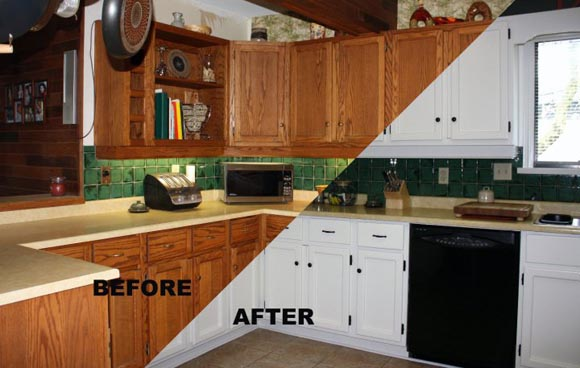 Painting Kitchen Cabinets Before After - Best Kitchen Cabinets 2017